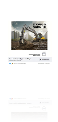 Volvo Construction Equipment Malaysia advertisement by Up Tree Marketing Sdn Bhd.
