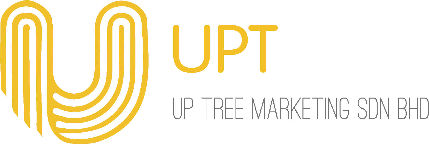 Up Tree Marketing Sdn Bhd logo transparent black text png.